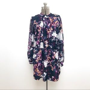 Girl With Curves Plus Sized Mini Floral Dress - 20